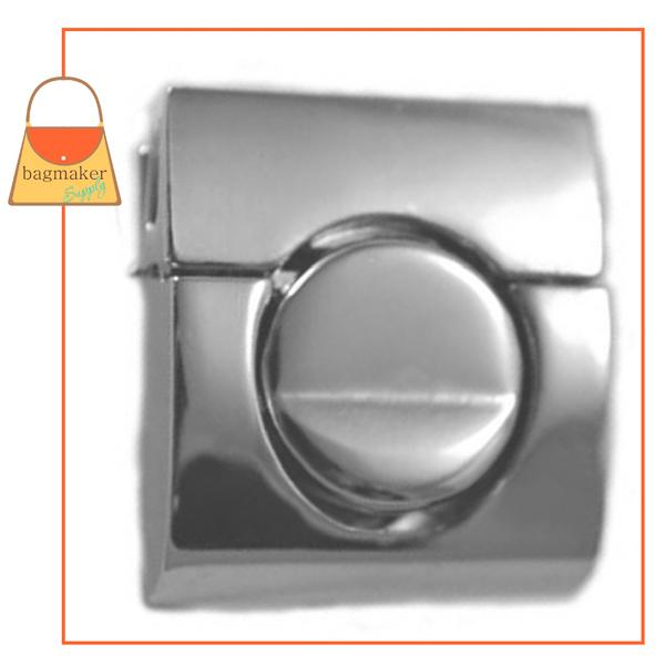 Representative Image of 1-1/4 Inch Square Tuck Catch Clasp, Nickel Finish (CSP-AA016))