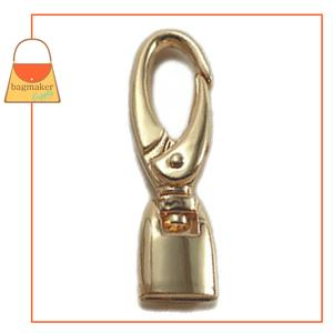 Representative Image of 1/2 Inch Flat Cord End Swivel Snap Hook, Gold Finish