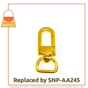 Representative Image of 1/2 Inch Lobster Claw Swivel Snap Hook, Gold Finish