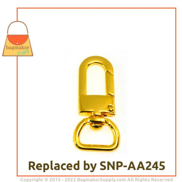 Representative Image of 1/2 Inch Lobster Claw Swivel Snap Hook, Gold Finish (SNP-AA024))
