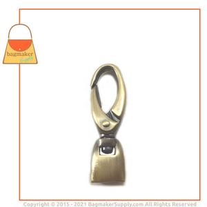 Representative Image of 1/2 Inch Flat Cord End Swivel Snap Hook, Antique Brass Finish