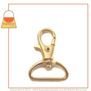 Representative Image of 1 Inch Lobster Claw Swivel Snap Hook, Gold Finish