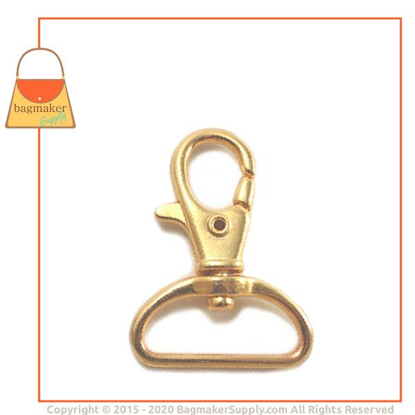 Representative Image of 1 Inch Lobster Claw Swivel Snap Hook, Gold Finish (SNP-AA027))