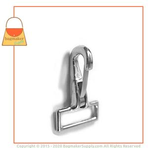 Representative Image of 1 Inch Stationary Snap Hook, Nickel Finish