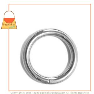 Representative Image of 1-1/4 Inch Wire Formed O Ring, Welded, Nickel Finish
