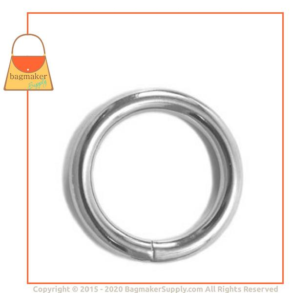 Representative Image of 1-1/4 Inch Wire Formed O Ring, Welded, Nickel Finish (RNG-AA099))