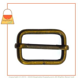 Representative Image of 1 Inch Moving Bar Slide, Antique Brass Finish