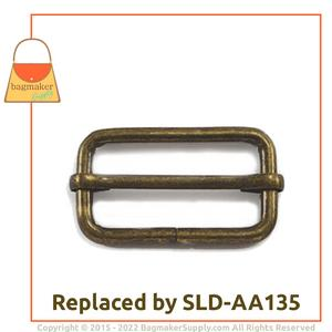 Representative Image of 1-1/2 Inch Moving Bar Slide, Antique Brass Finish