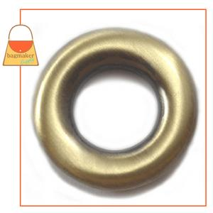 Representative Image of 5/8 Inch Round Force-Fit Eyelet, Antique Brass Finish