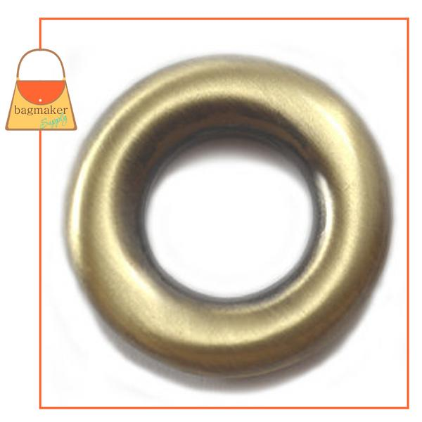 Representative Image of 5/8 Inch Round Force-Fit Eyelet, Light Antique Brass / Antique Gold Finish (EGR-AA024))