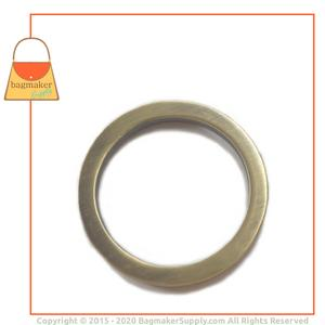 Representative Image of 1-1/2 Inch Flat Cast O Ring, Antique Brass Finish