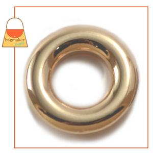 Representative Image of 5/8 Inch Round Force-Fit Eyelet, Gold Finish