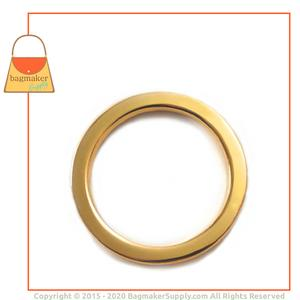 Representative Image of 1-1/2 Inch Flat Cast O Ring, Gold Finish