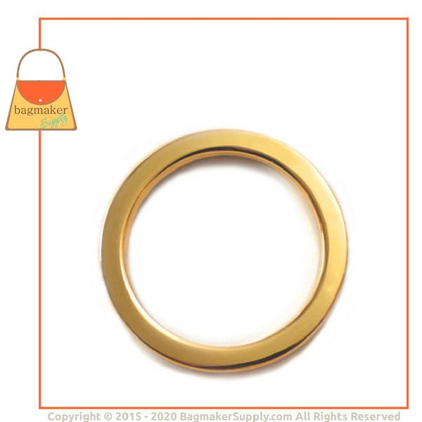 Representative Image of 1-1/2 Inch Flat Cast O Ring, Gold Finish (RNG-AA104))