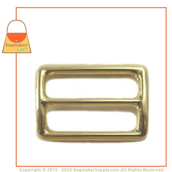 Representative Image of 1-1/4 Inch Concave Center Bar Slide, Brass Finish (SLD-AA037))