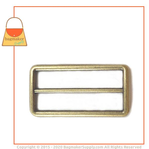 Representative Image of 2 Inch Cast Center Bar Slide, Light Antique Brass / Antique Gold Finish (SLD-AA038))