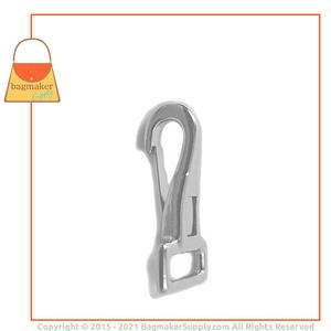 Representative Image of 1/2 Inch Stationary Snap Hook, Nickel Finish