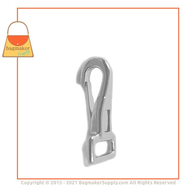 Representative Image of 1/2 Inch Stationary Snap Hook, Nickel Finish (SNP-AA029))