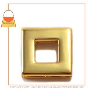 Representative Image of 3/8 Inch Square Screw Back Eyelet, Gold Finish