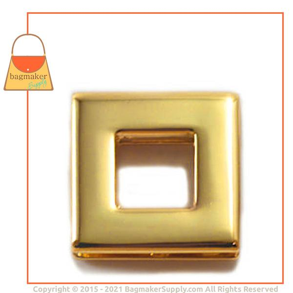 Representative Image of 3/8 Inch Square Screw Back Eyelet, Gold Finish (EGR-AA026))