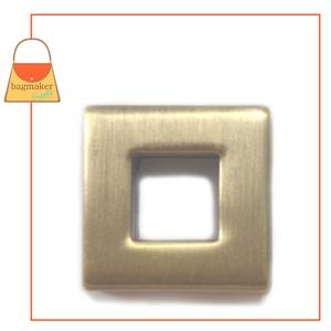 Representative Image of 3/8 Inch Square Screw Back Eyelet, Antique Brass Finish