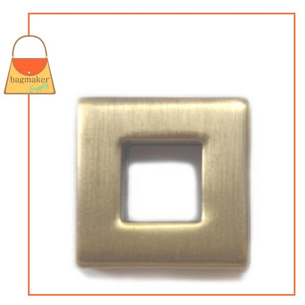 Representative Image of 3/8 Inch Square Screw Back Eyelet, Antique Brass Finish (EGR-AA027))