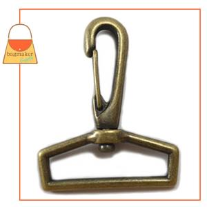 Representative Image of 1-1/2 Inch Swivel Snap Hook, Antique Brass Finish