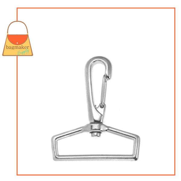 Representative Image of 1-1/2 Inch Spring Loop Gate Swivel Snap Hook, Nickel Finish (SNP-AA033))
