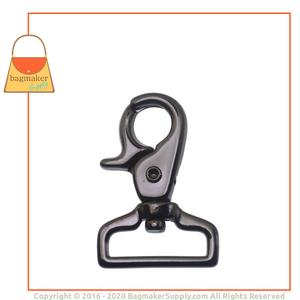Representative Image of 1 Inch Lobster Claw Swivel Snap Hook, Gunmetal Finish