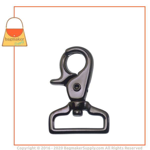 Representative Image of 1 Inch Lobster Claw Swivel Snap Hook, Black Nickel / Gunmetal Finish (SNP-AA034))