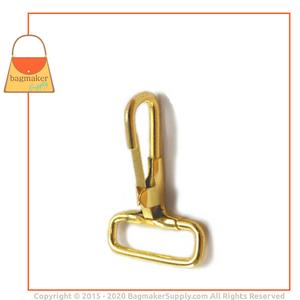 Representative Image of 1 Inch Stationary Snap Hook, Brass Finish