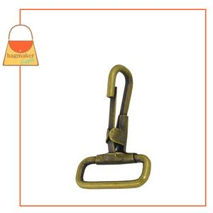 Representative Image of 1 Inch Stationary Snap Hook, Antique Brass Finish