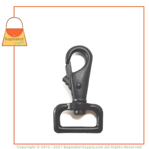 Representative Image of 1 Inch Lobster Claw Swivel Snap Hook, Black Finish (SNP-AA038))