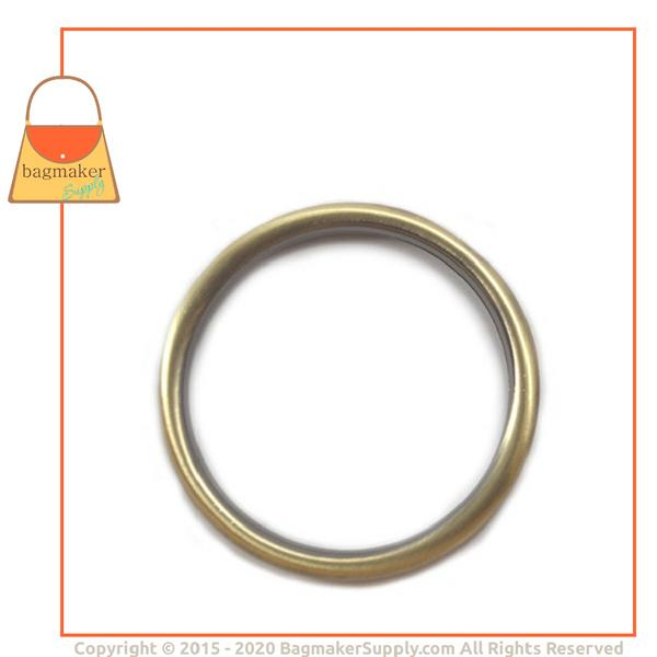 Representative Image of 2 Inch Cast O Ring, Light Antique Brass / Antique Gold Finish (RNG-AA110))