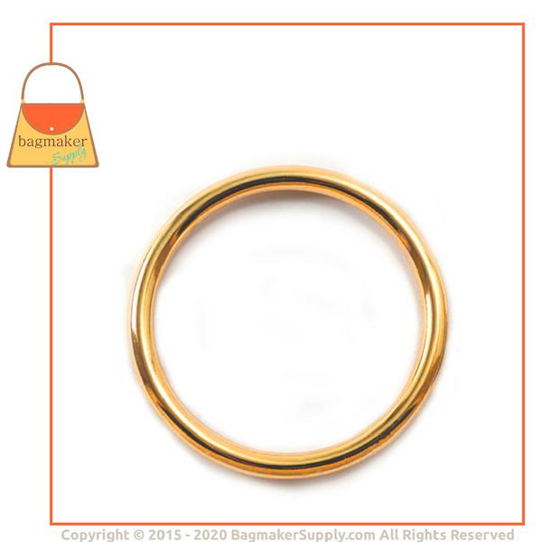 Representative Image of 2 Inch Cast O Ring, Gold Finish (RNG-AA111))