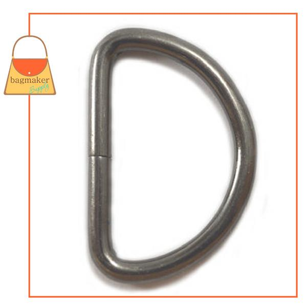 Representative Image of 1-1/4 Inch Wire Formed D Ring, Not Welded, Gunmetal Finish (RNG-AA114))