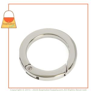 Representative Image of 1-1/4 Inch Flat Cast Spring Gate Ring, Nickel Finish