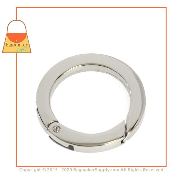 Representative Image of 1-1/4 Inch Flat Cast Spring Gate Ring, Nickel Finish (RNG-AA117))