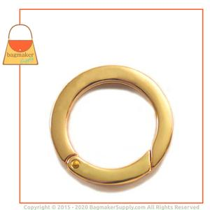 Representative Image of 1-1/4 Inch Flat Cast Spring Gate Ring, Gold Finish