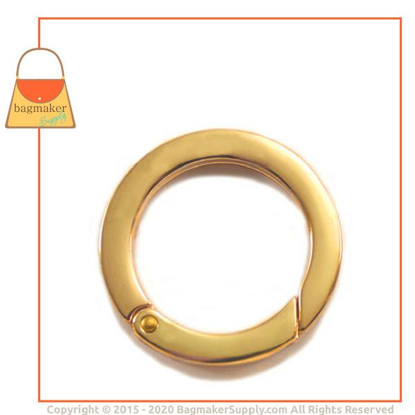 Representative Image of 1-1/4 Inch Flat Cast Spring Gate Ring, Gold Finish (RNG-AA118))