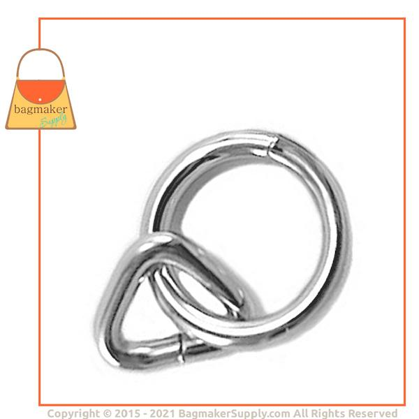 Representative Image of 5/8 Inch Loop with 1 Inch Ring, Nickel Finish (RNG-AA119))