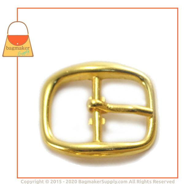 Representative Image of 1/2 Inch Rounded Square Buckle, Gold Finish (BKL-AA014))
