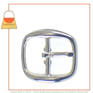 Representative Image of 1/2 Inch Rounded Square Buckle, Nickel Finish