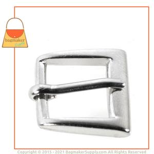Representative Image of 1/2 Inch Square Buckle, Nickel Finish