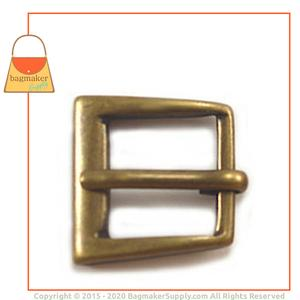 Representative Image of 1/2 Inch Square Buckle, Antique Brass Finish