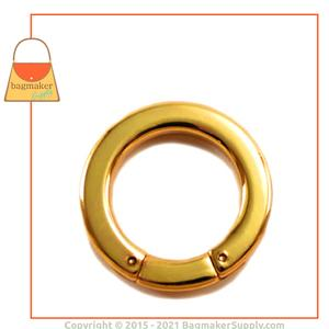 Representative Image of 1 Inch Flat Cast Screw Gate Ring, Gold Finish