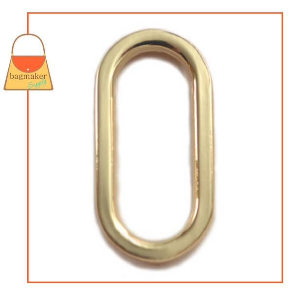 Representative Image of 1 Inch Flat Cast Oval Ring, Gold Finish (RNG-AA124))