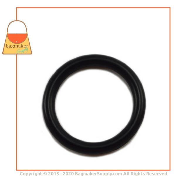 Representative Image of 1 Inch Cast O Ring, Black Satin Finish (RNG-AA126))
