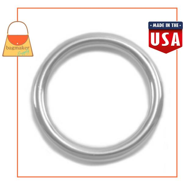 Representative Image of 1 Inch Cast O Ring, Nickel Finish (RNG-AA127))