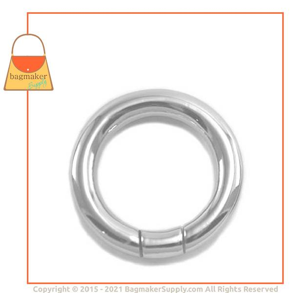 Representative Image of 1 Inch Screw Gate Ring, Nickel Finish (RNG-AA128))